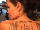 Angelina Jolie e Brad Pitt fizeram tatuagem juntos antes da separação