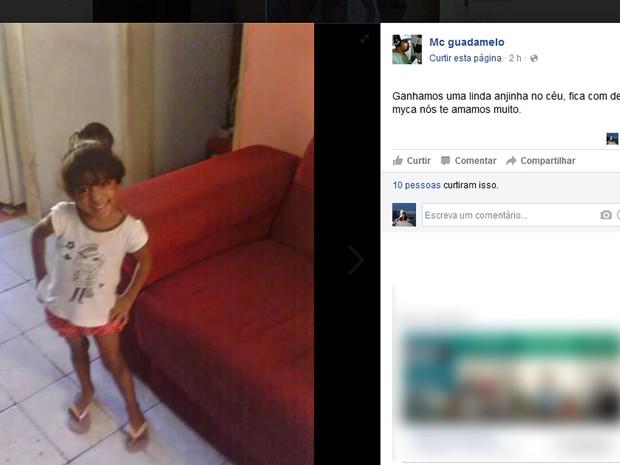 Vizinho da família postou foto de Micaela (Foto: Reprodução / Facebook)
