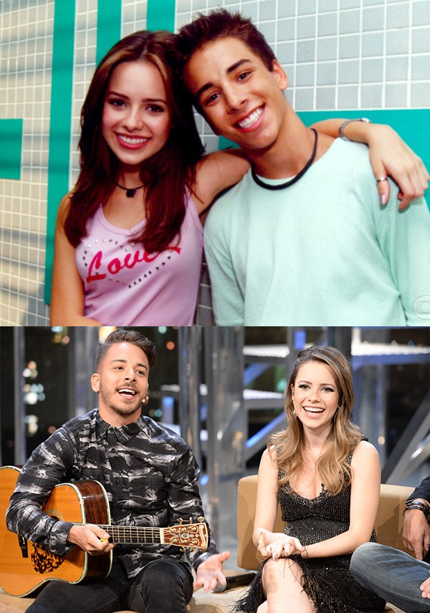 Sandy ganhou uma barriguinha de grávida e Junior um corte de cabelo (Foto: Divulgação TV Globo)