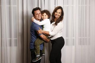 Jamerson Andrade, Benjamim e Solange Couto (Foto: Marcos Serra Lima/EGO)