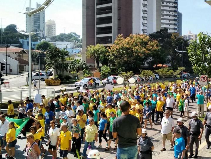 Manifestação em Jundiaí