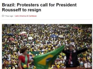 BBC protestos (Foto: Reprodução / BBC)