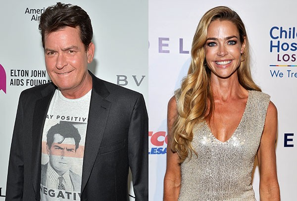 Charlie Sheen e Denise Richards (Foto: Getty Images)