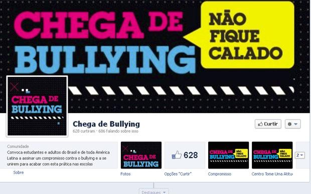 Campanha de bullying no facebook (Foto: Reprodução)
