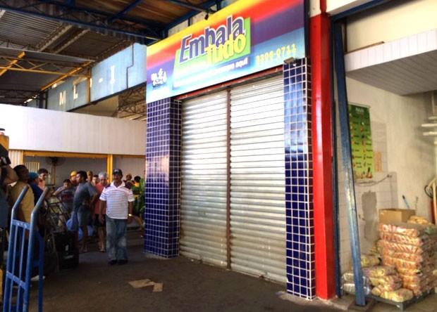 Crime aconteceu dentro da Central de Abastecimento do Rio Grande do Norte (Ceasa), na zona Sul de Natal  (Foto: Matheus Magalhães/Inter TV Cabugi)