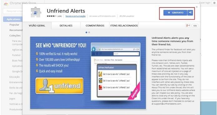 Extensão do Chrome dedura os contatos que te excluiram no Facebook (Foto: Reprodução/Taysa Coelho)