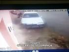 Vídeo flagra mulher sendo atropelada na calçada em Bocaiuva, Norte de MG
