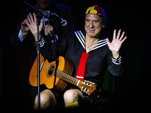Carlos Villagrán, o Kiko do seriado 'Chaves', em apresentação em São Paulo (Foto: Manuela Scarpa/ Foto Rio News)