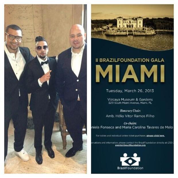 Naldo em Miami (Foto: Twitter / Reprodução)