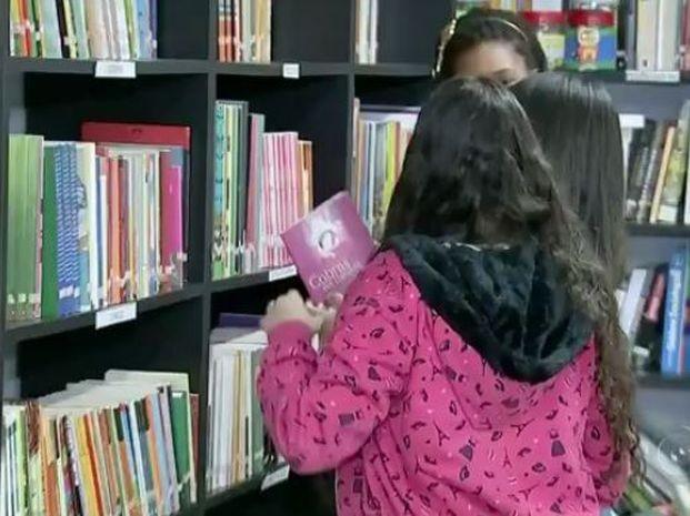 Escola incentiva a leitura em Bauru (Foto: Reprodução / TV TEM)