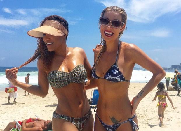 Leilah Moreno e Luiza Possi (Foto: Reprodução)