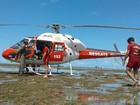 Vítima de afogamento nas piscinas da Pajuçara é resgatada por helicóptero