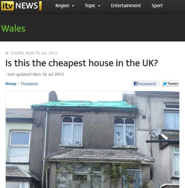 Casa no País de Gales será leiloada por R$ 13 mil (Foto: Reprodução)