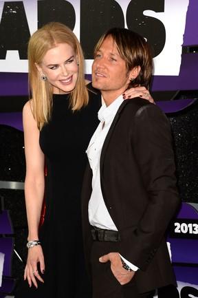 Nicole Kidman e Keith Urban em premiação nos EUA (Foto: Jason Merritt/ Getty Images/ AFP)