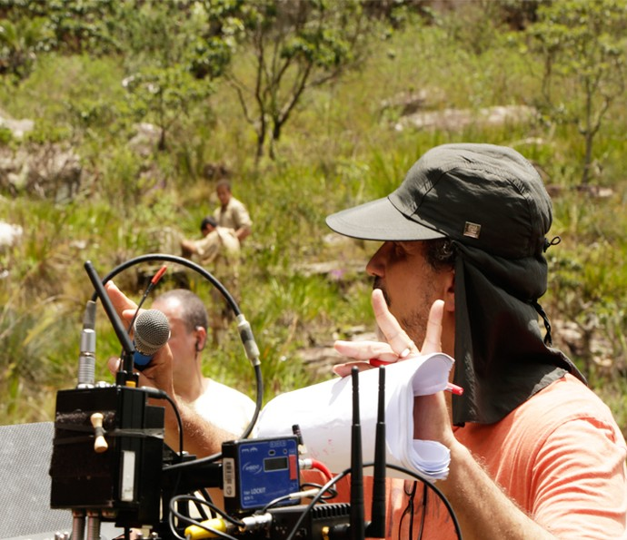 O diretor André Camara em ação (Foto: Alessandra Albuquerque/Gshow)