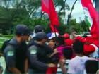 PM atira durante protesto do MST (Reprodução/ Inter TV Cabugi)