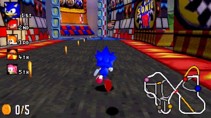 Sonic R não aproveitou o poder do SEGA Saturn (Foto: Reprodução/YouTube)