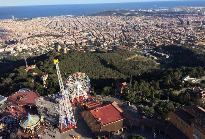 Barcelona vista do Tibidado (Foto: Ivan Raupp)
