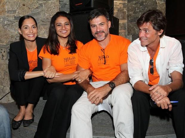Camila Pitanga, Dira Paes, Leonardo Brício e Marcos Winter em evento no Rio (Foto: Anderson Borde/ Ag. News)