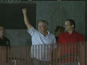 José Dirceu se entraga na sede da PF em São Paulo/GNews (Foto: Reprodução Globo News)