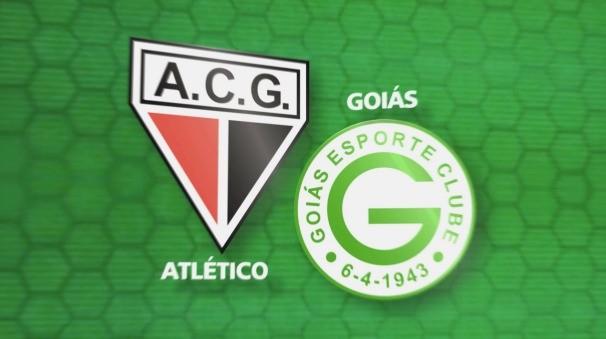 Atlético e Goiás (Foto: TV Anhanguera)