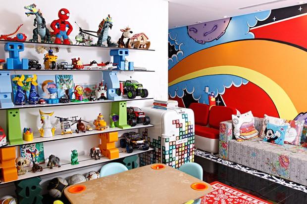 O quarto de brinquedos dos gêmeos Eike e Victor (Foto: Celso Tavares/EGO)