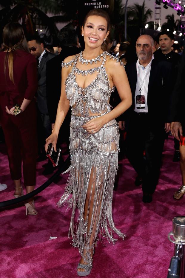Thalia em prêmio de música em Miami, nos Estados Unidos (Foto: John Parra/ Getty Images)