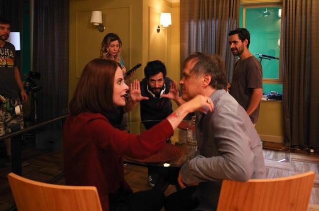 Fernanda Young e Guilherme Fontes são dirigidos por Pedro Amorim em 'Edifício Paraíso' (Foto:  Tricia Vieira)