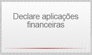 Selo - Declare aplicações financeiras (Foto: G1)