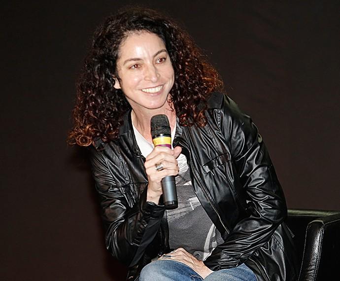 Rosane Svatman fala sobre a trama para a imprensa (Foto: Fábio Rocha/Gshow)