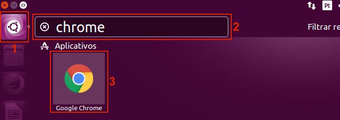 Executando o Google Chrome no Dash do Ubuntu (Foto: Reprodução/Edivaldo Brito) (Foto: Executando o Google Chrome no Dash do Ubuntu (Foto: Reprodução/Edivaldo Brito))