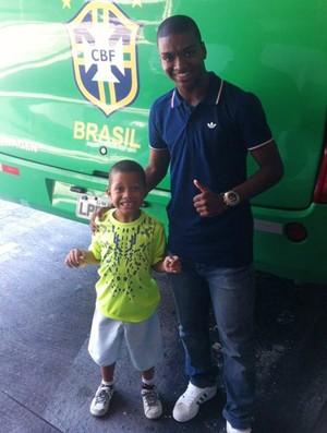 Caio Rangel, jogador do Flamengo, na Seleção de base  (Foto: Divulgação)