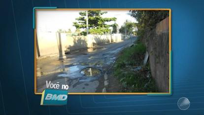 Telespectadores enviam imagens de buracos, lixo e entulhos em Salvador e Lauro de Freitas