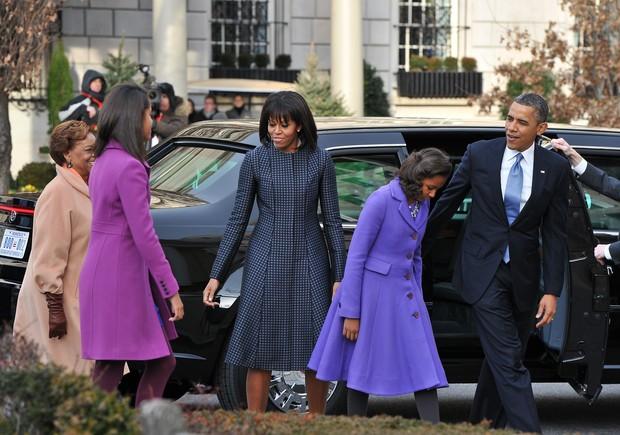 Michelle Obama nas cerimônias ligadas à posse de Barack Obama (Foto: Agência AFP)
