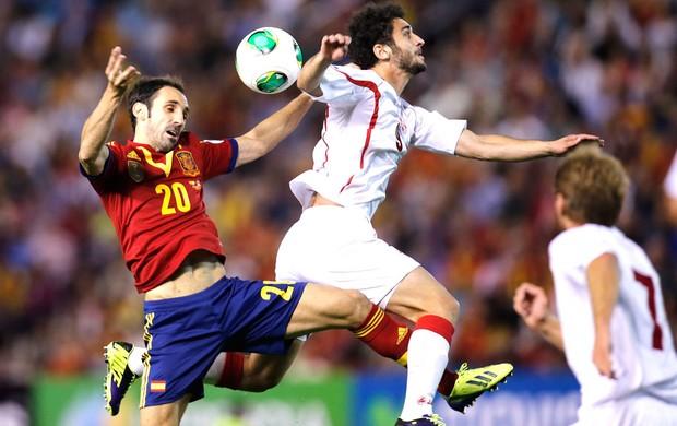 Espanha e Geórgia (Foto: Agência AP)
