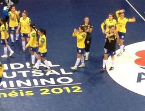 Brasil Irã Mundial Futsal feminino (Foto: Luis Domingues/CBFS)