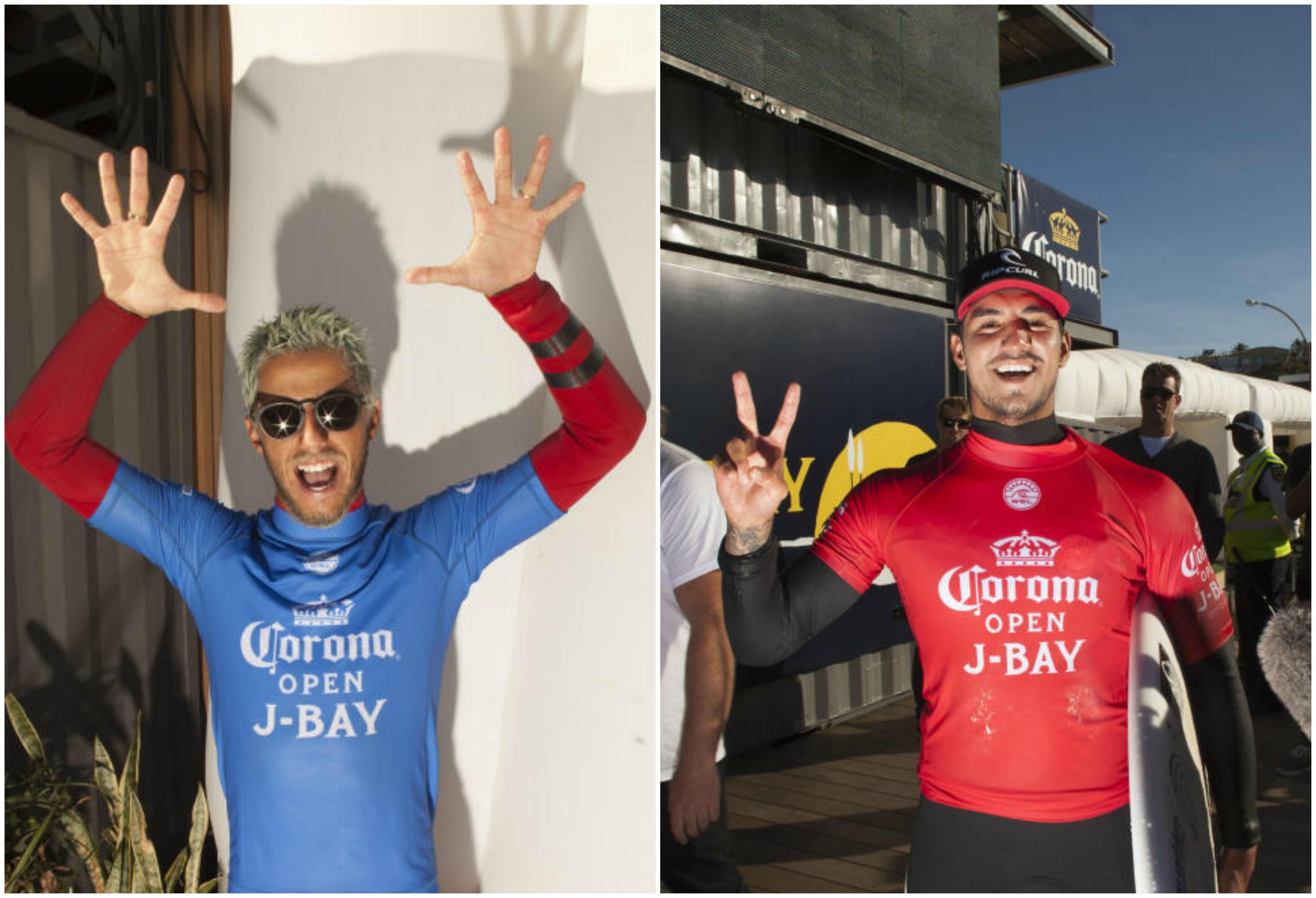 Filipe Toledo e Gabriel Medina mandaram bem no dia 8 de competio em J-Bay (Foto: WSL / STEVE SHERMAN)