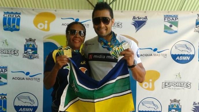 Dupla de ouro da natação amapaense conquistam medalhas, em Foz Iguaçu (Foto: Reprodução/Facebook)