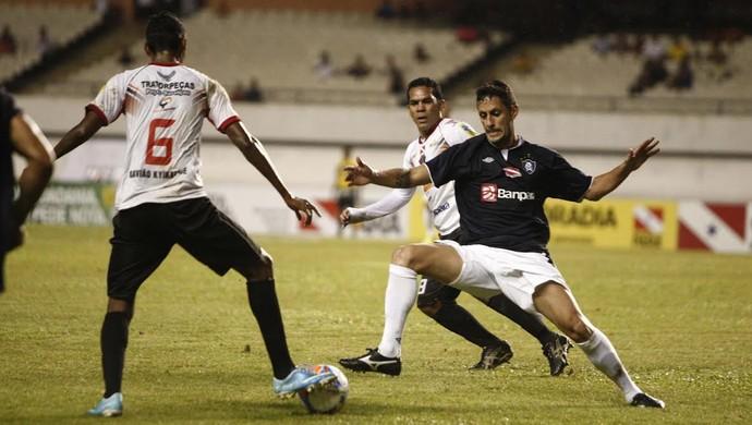 Gavião foi presa fácil, sobretudo, no segundo tempo (Foto: Tarso Sarraf / O Liberal)
