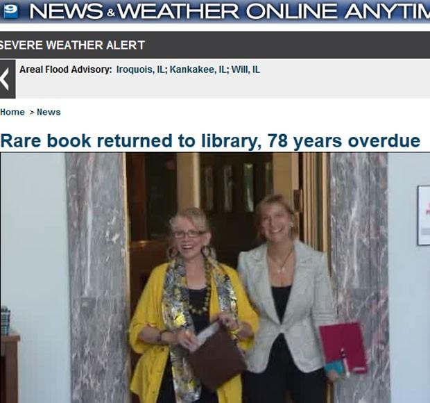 Mulher devolveu a biblioteca livro que estava com sua mãe há 78 anos (Foto: Reprodução)
