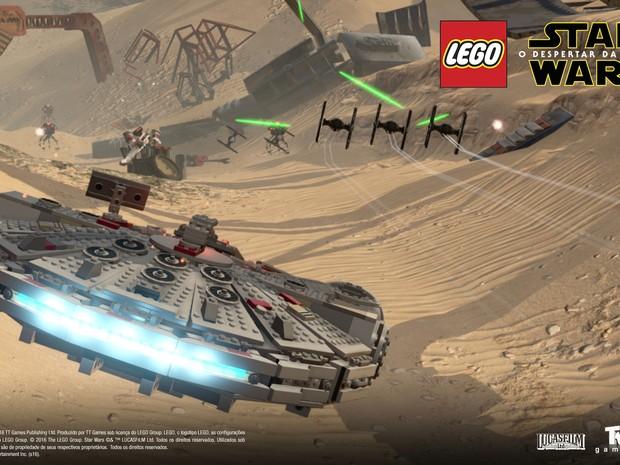 Jogador poderá guiar Millenium Falco no novo 'Lego Star Wars: O despertar da força' (Foto: Divulgação/Warner Bros. Games)