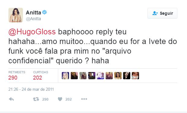 Anitta post no Twitter (Foto: Reprodução / Twitter)