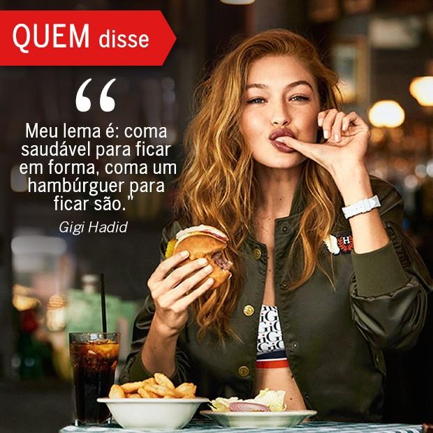 QUEM Disse: Gigi Hadid (Foto: Reprodução/ Revista QUEM)