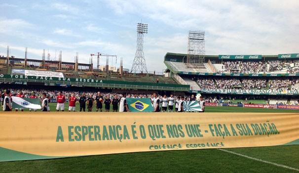 Criança Esperança no Brasileirão Coritiba (Foto: Divulgação/RPC TV)