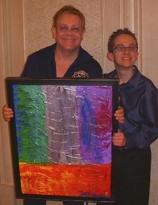 Hanson com Elton John (Foto: Reprodução/Facebook)