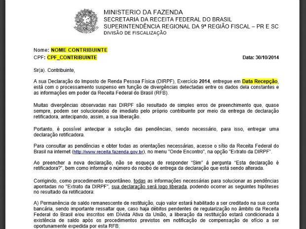 G1 Receita Federal Envia Cartas A Quem Está Com Pendências