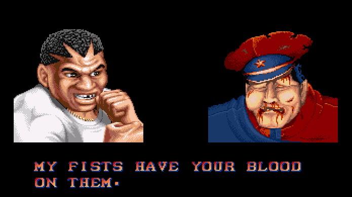 Uma das mais famosas frases de vitória de Balrog em Street Fighter 2 perdeu sentido na versão censurada do Super Nintendo (Foto: Reprodução/Mugen Guild)
