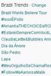Trending Topics no Brasil às 17h12 (Foto: Reprodução)