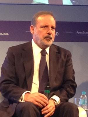 Ministro Armando Monteiro participa de evento em São Paulo, nesta quinta-feira (10) (Foto: Marta Cavallini/G1)