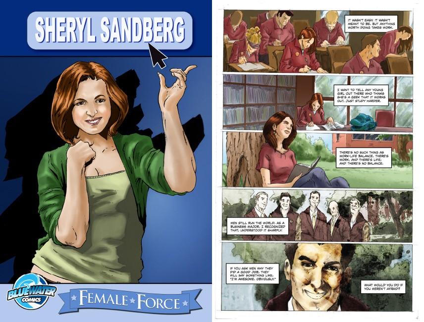 Sheryl Sandberg virou personagem de HQ (Foto: Divulgação)
